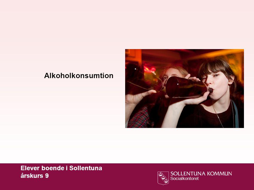 Socialkontoret Alkoholkonsumtion Elever boende i Sollentuna årskurs 9