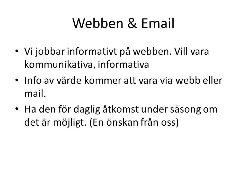 Webben & Email Vi jobbar informativt på webben.