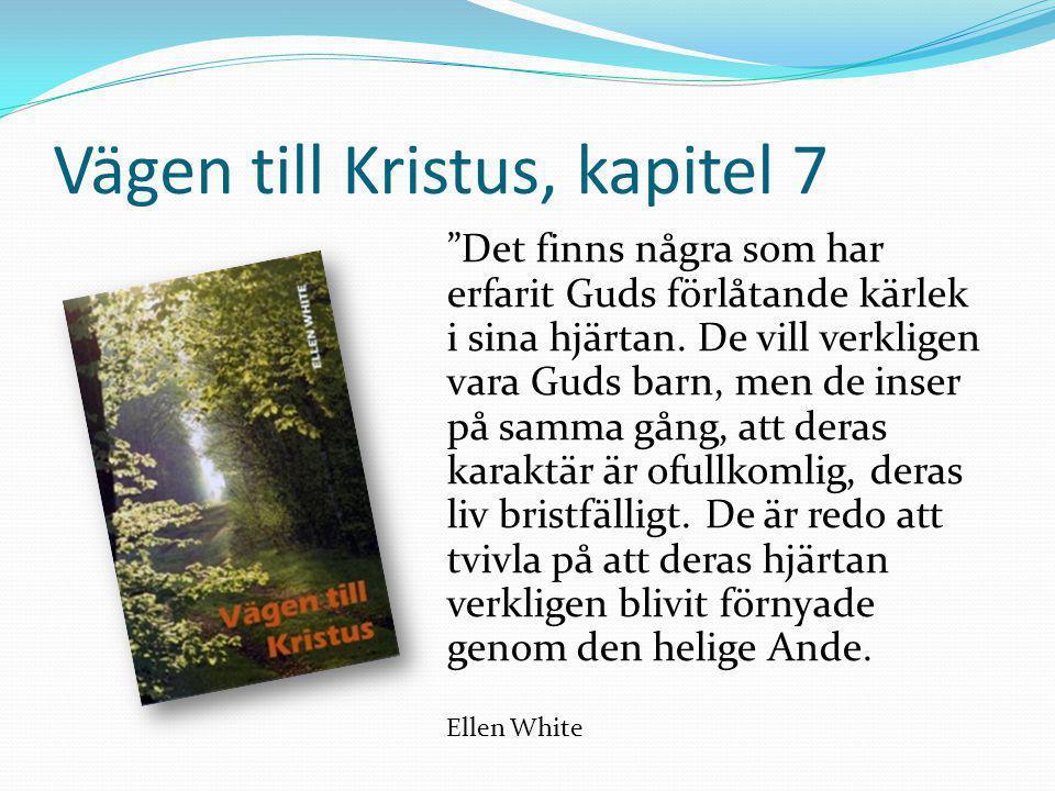"""Vägen till Kristus, kapitel 7 """"Det finns några som har erfarit Guds förlåtande kärlek i sina hjärtan. De vill verkligen vara Guds barn, men de inser p"""
