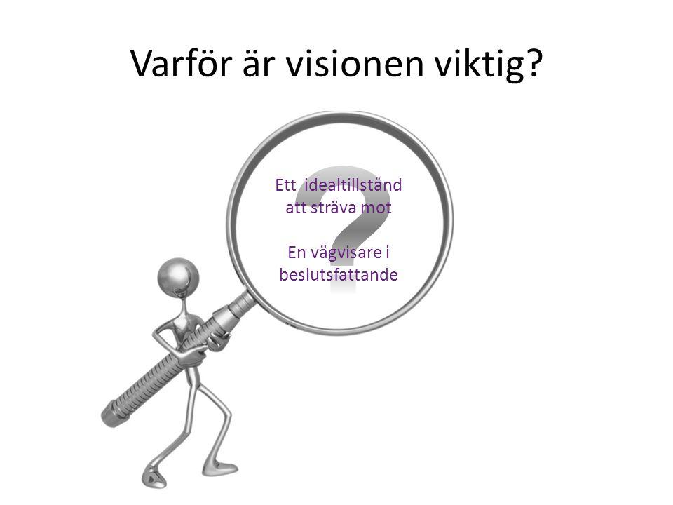 Varför är visionen viktig? Ett idealtillstånd att sträva mot En vägvisare i beslutsfattande