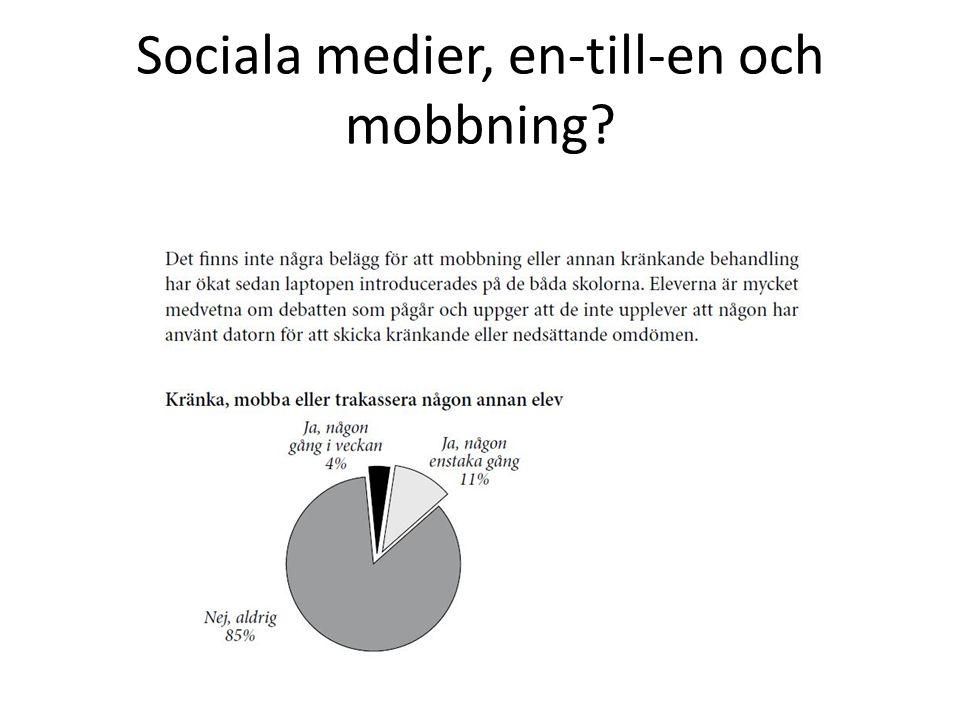 Sociala medier, en-till-en och mobbning