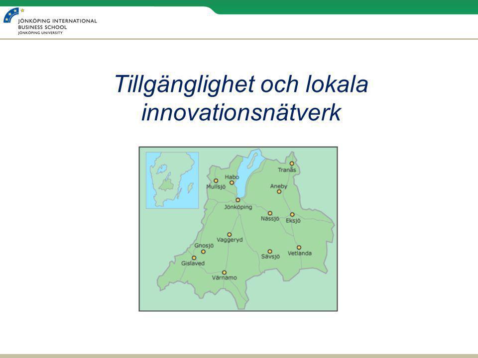 Tillgänglighet och lokala innovationsnätverk