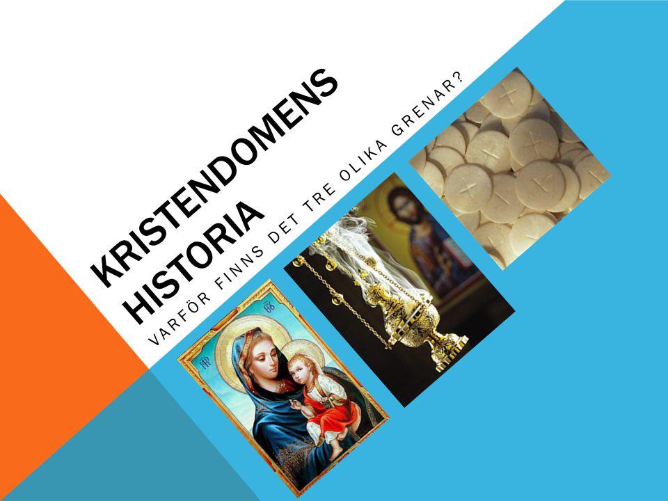 KRISTENDOMENS HISTORIA VARFÖR FINNS DET TRE OLIKA GRENAR?