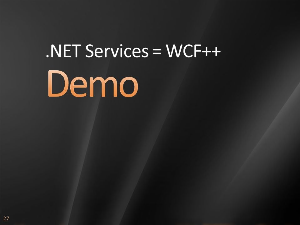 27.NET Services = WCF++