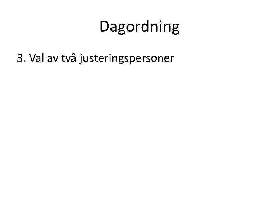 Dagordning 4.