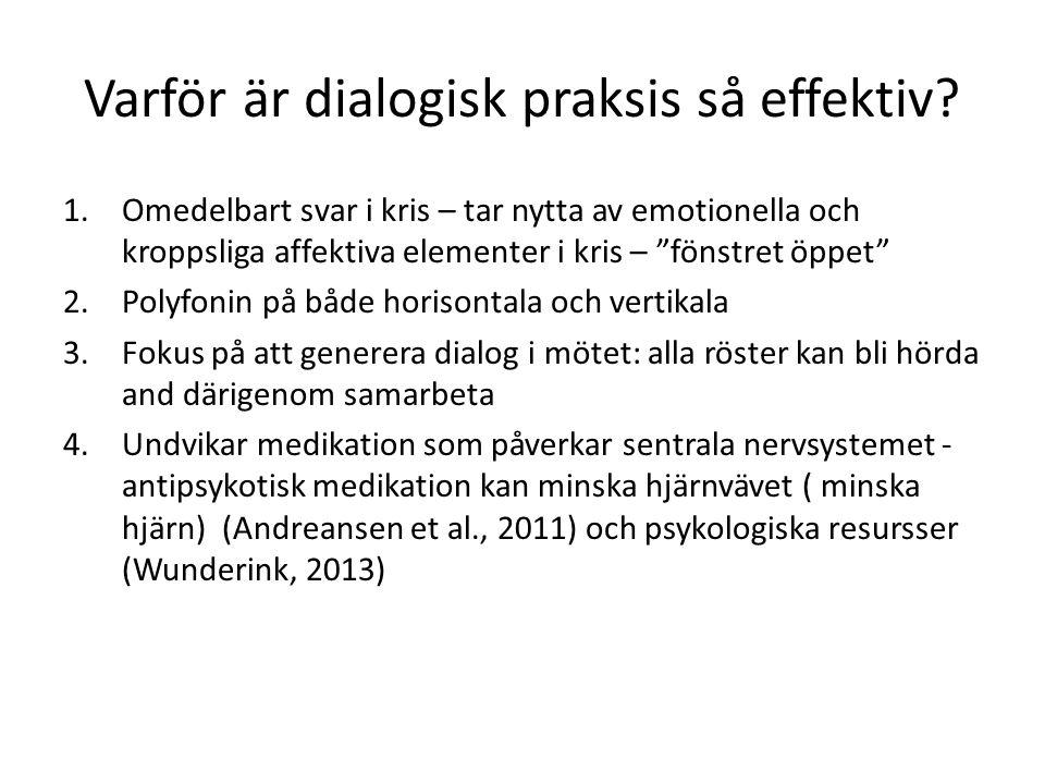 Sista tankar Resultater i Västra Lapland – att finna lokala spesiella elementer En del av svårigheter kommer ut av att utmanar så kraftfult grundpremisser i sedvanliga psykiatrin – egendomliga kommentarer Det är värd att lita på människornas egna resursser i deras social nätverk