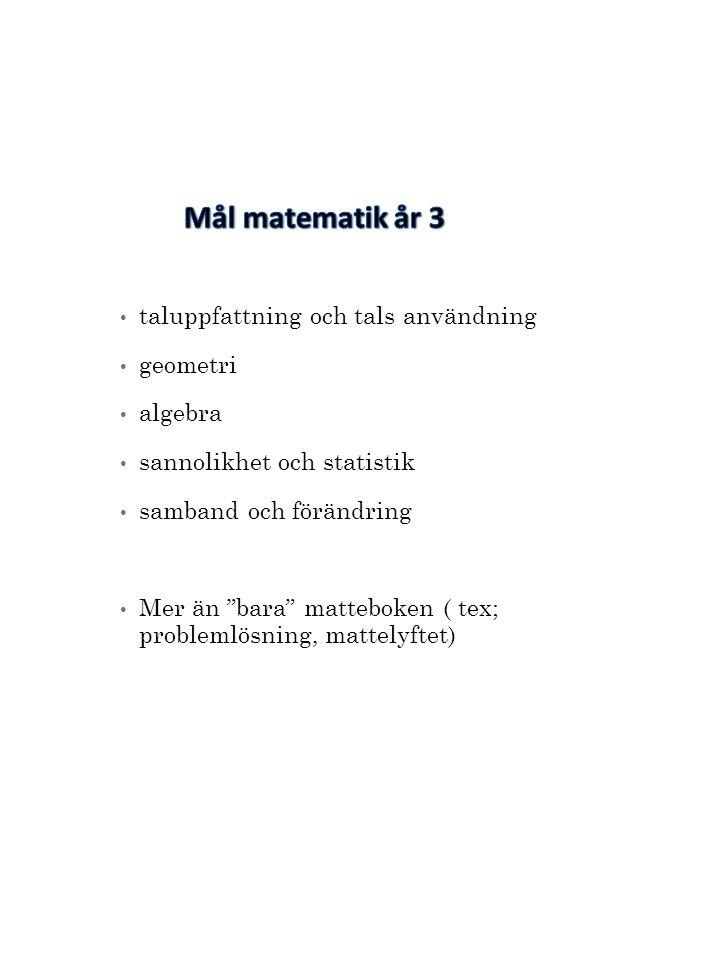 """taluppfattning och tals användning geometri algebra sannolikhet och statistik samband och förändring Mer än """"bara"""" matteboken ( tex; problemlösning, m"""
