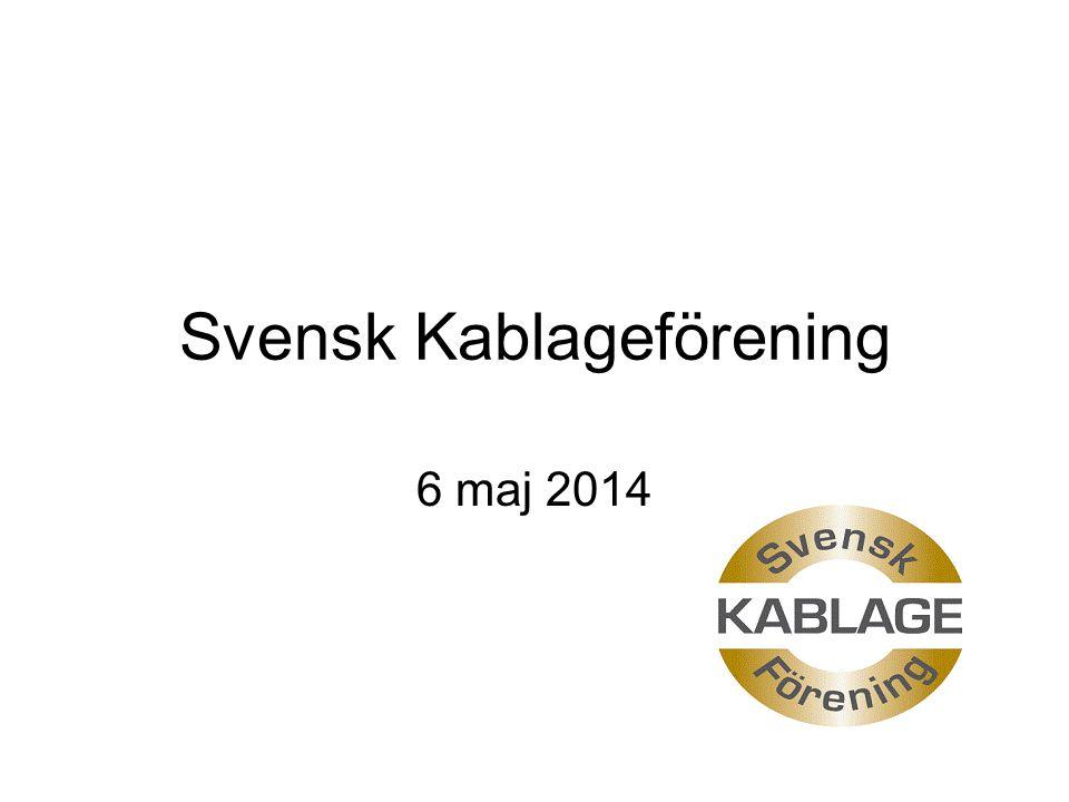 Svensk Kablageförening 6 maj 2014