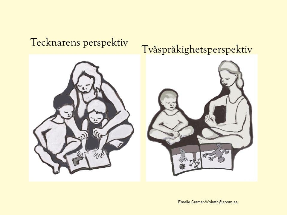 Tecknarens perspektiv Emelie.Cramér-Wolrath@spsm.se Tvåspråkighetsperspektiv