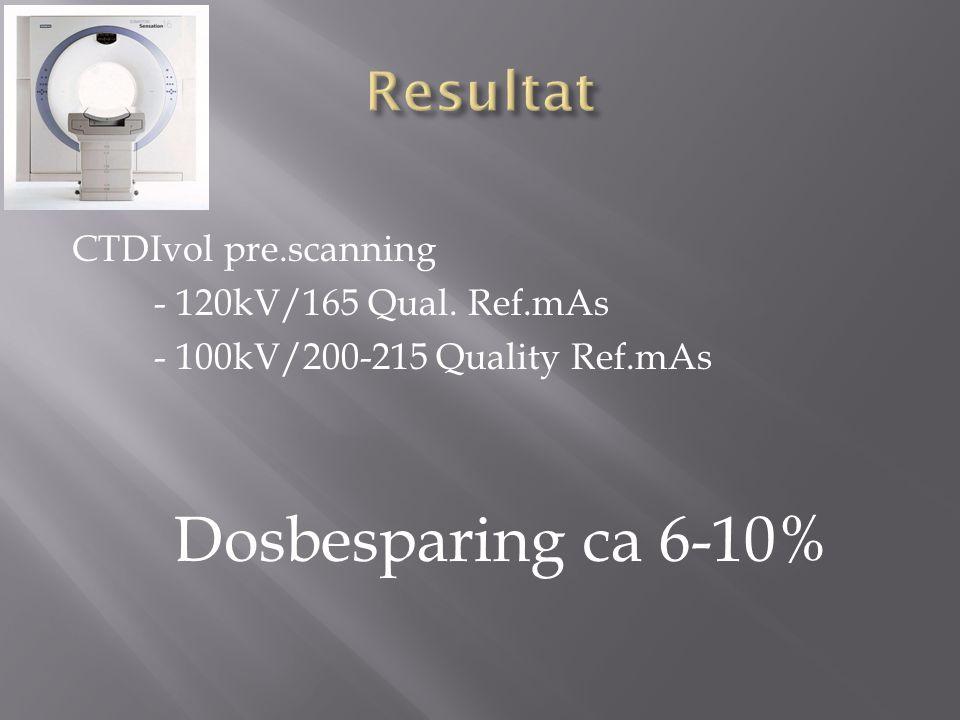 CTDIvol pre.scanning - 120kV/165 Qual.
