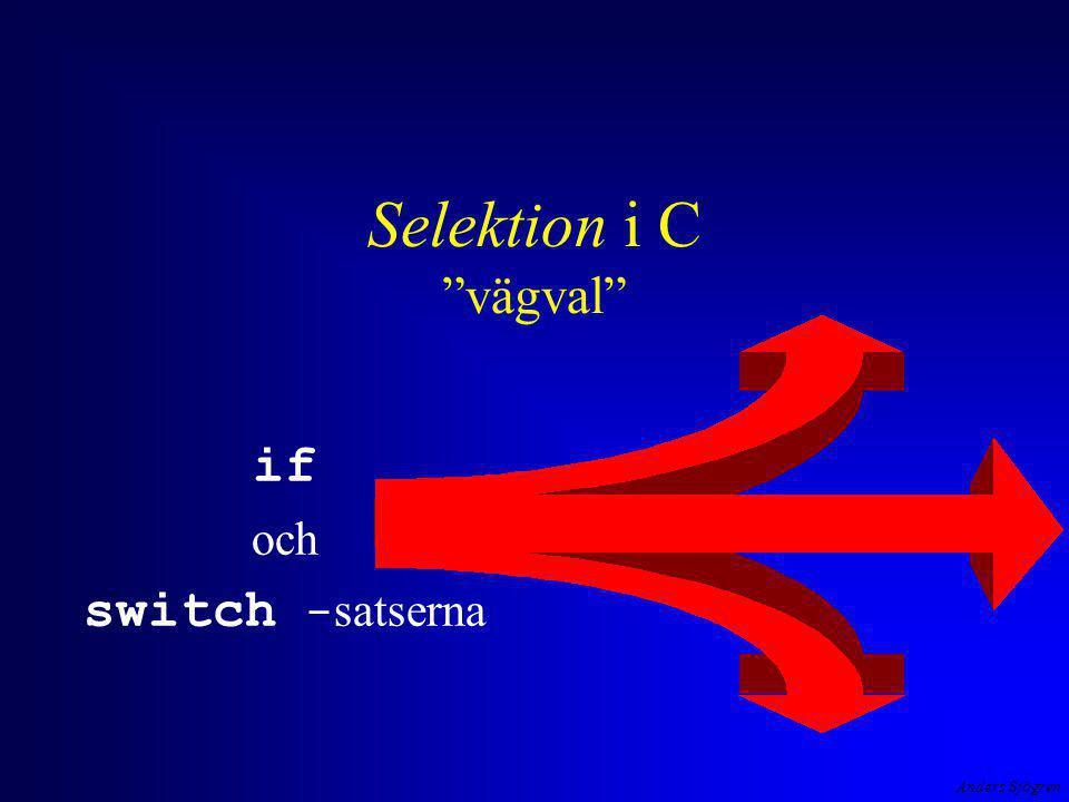 """Anders Sjögren Selektion i C """"vägval"""" if och switch - satserna"""