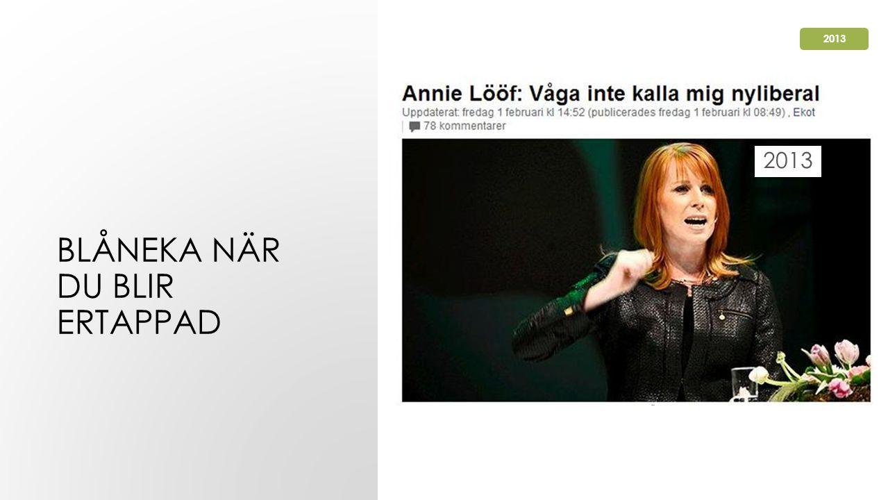 BLÅNEKA NÄR DU BLIR ERTAPPAD 2013