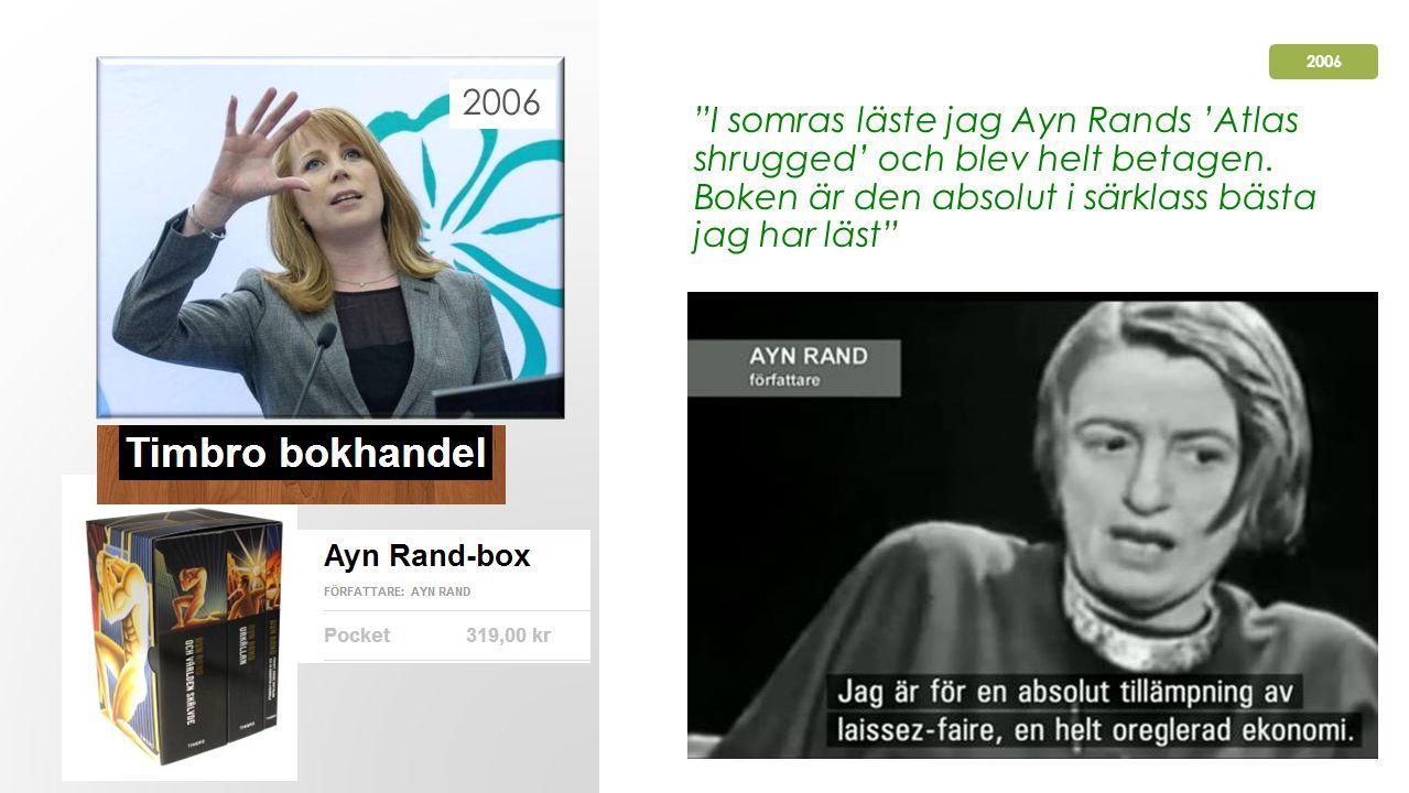 I somras läste jag Ayn Rands 'Atlas shrugged' och blev helt betagen.