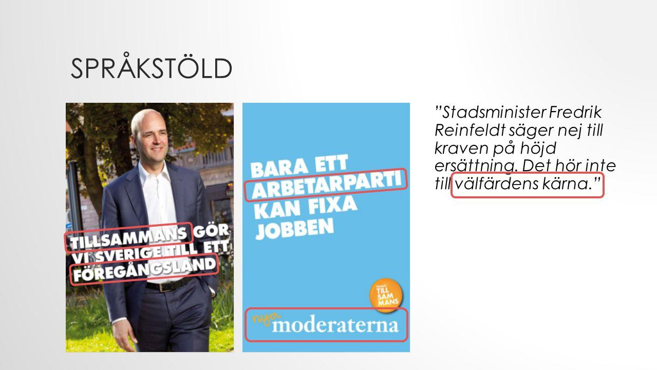 Stadsminister Fredrik Reinfeldt säger nej till kraven på höjd ersättning.