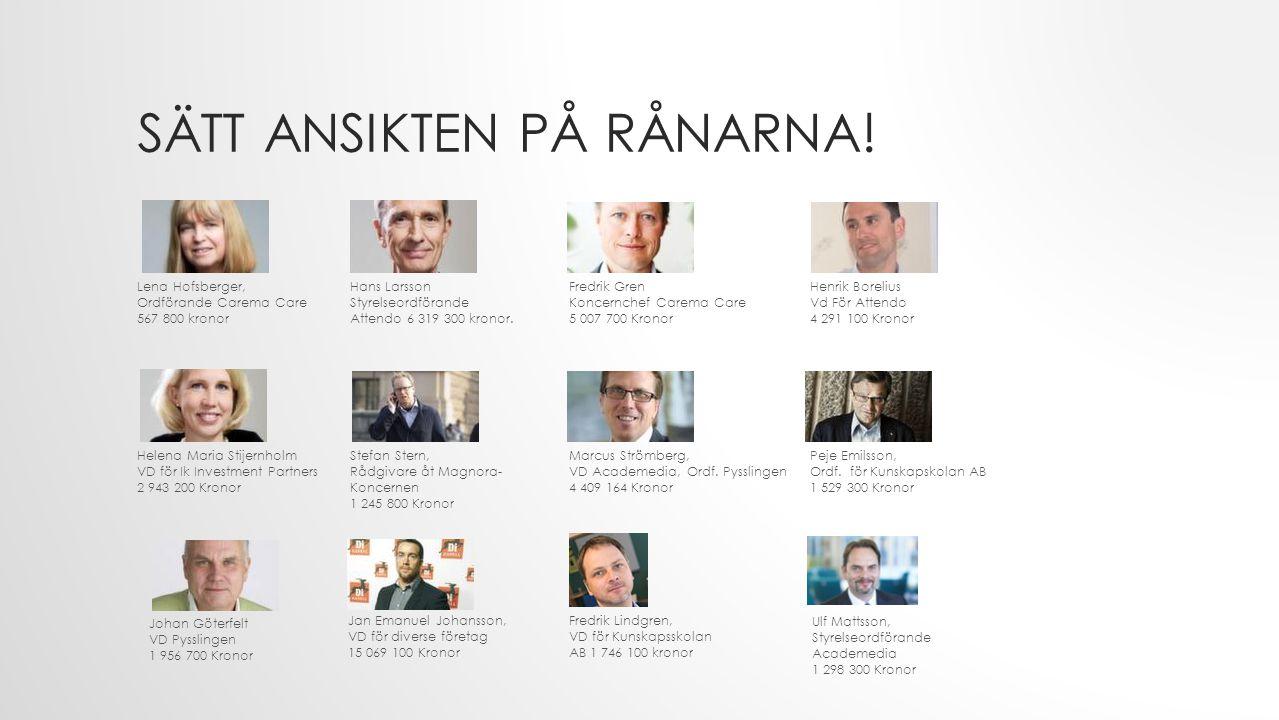 SÄTT ANSIKTEN PÅ RÅNARNA.