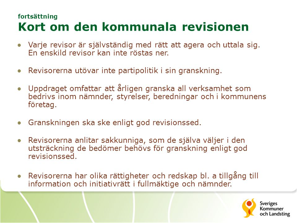 Den kommunala revisionen i sitt sammanhang God revisionssed 2010