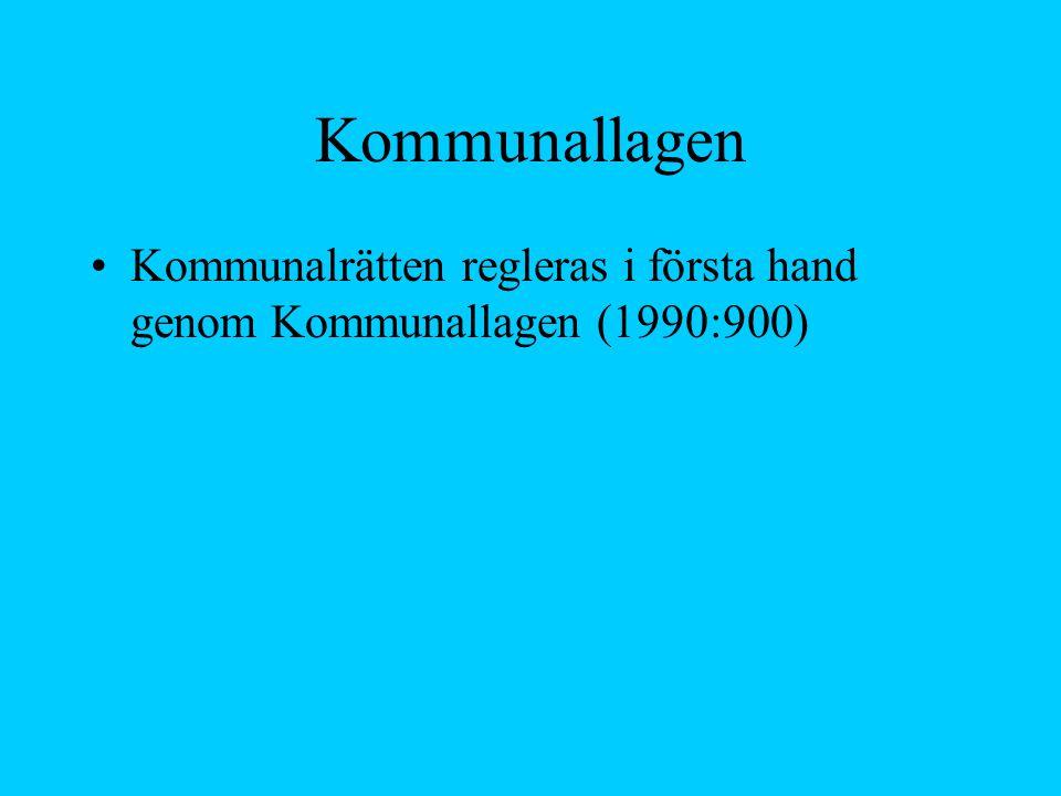 10 kapitel 1.Inledning, medlemskap 2. Kommunernas och landstingens befogenheter 3.