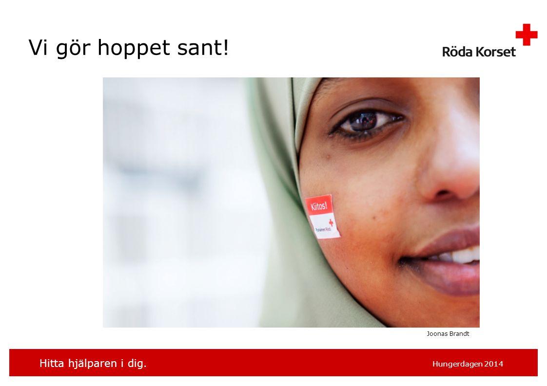 Hitta hjälparen i dig. Hungerdagen 2014 Vi gör hoppet sant! Joonas Brandt