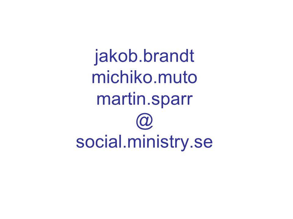 jakob.brandt michiko.muto martin.sparr @ social.ministry.se