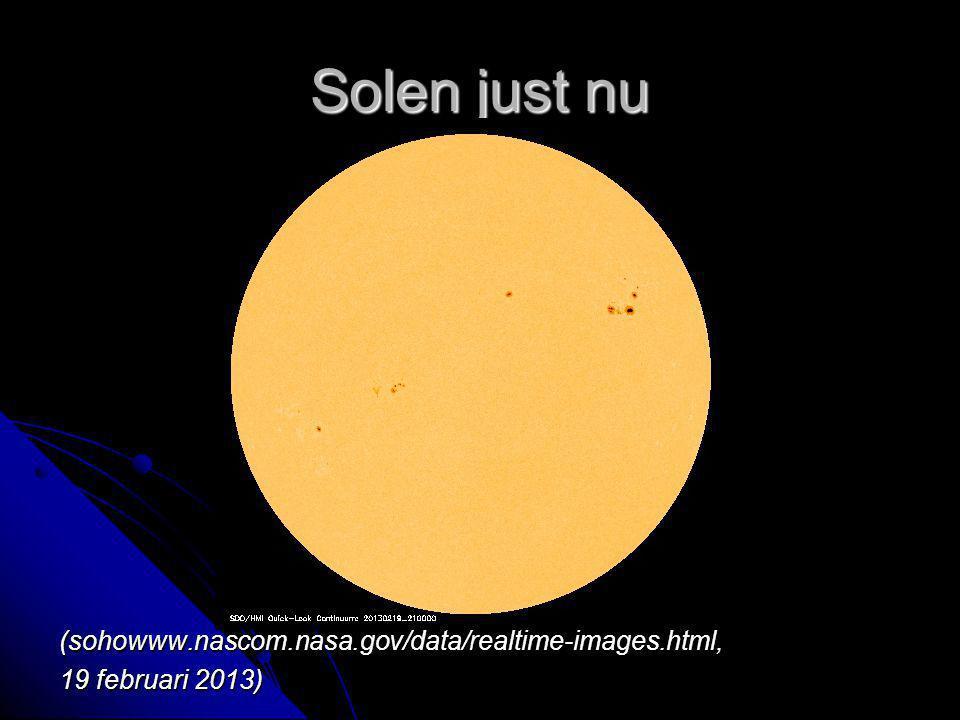 Solen just nu (sohowww.nascom.nasa.gov/data/realtime-images.html, 19 februari 2013)