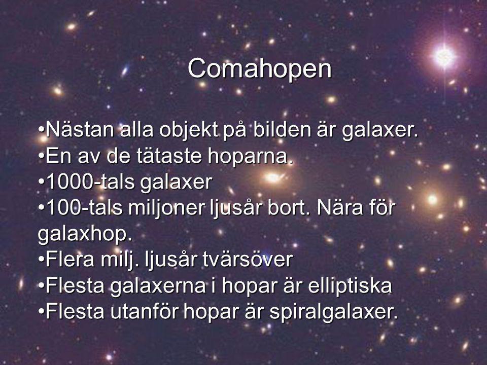 Comahopen Nästan alla objekt på bilden är galaxer.Nästan alla objekt på bilden är galaxer.