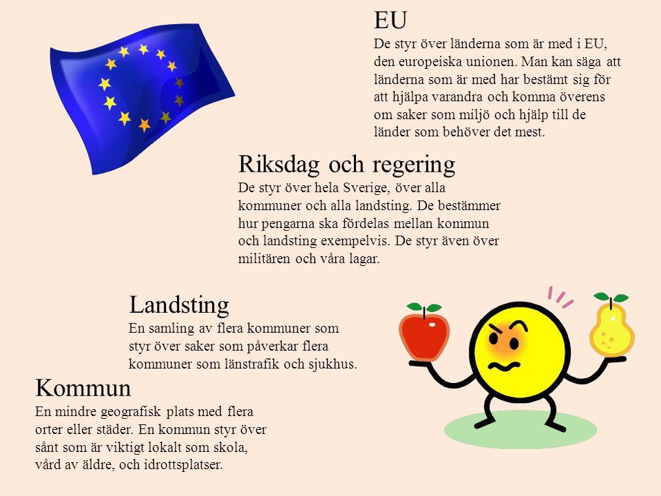 När du blir 18 år kommer du alltså att rösta till tre olika nivåer, kommun, landsting (län) och stat.