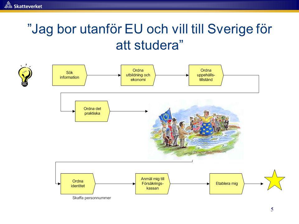 5 Jag bor utanför EU och vill till Sverige för att studera