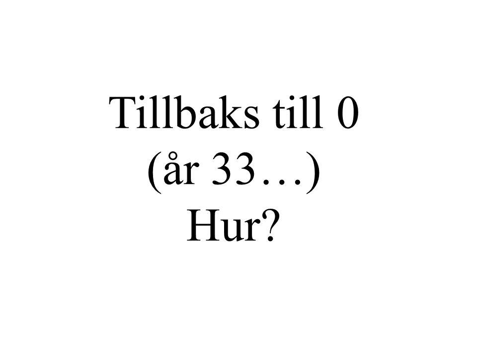 Tillbaks till 0 (år 33…) Hur?