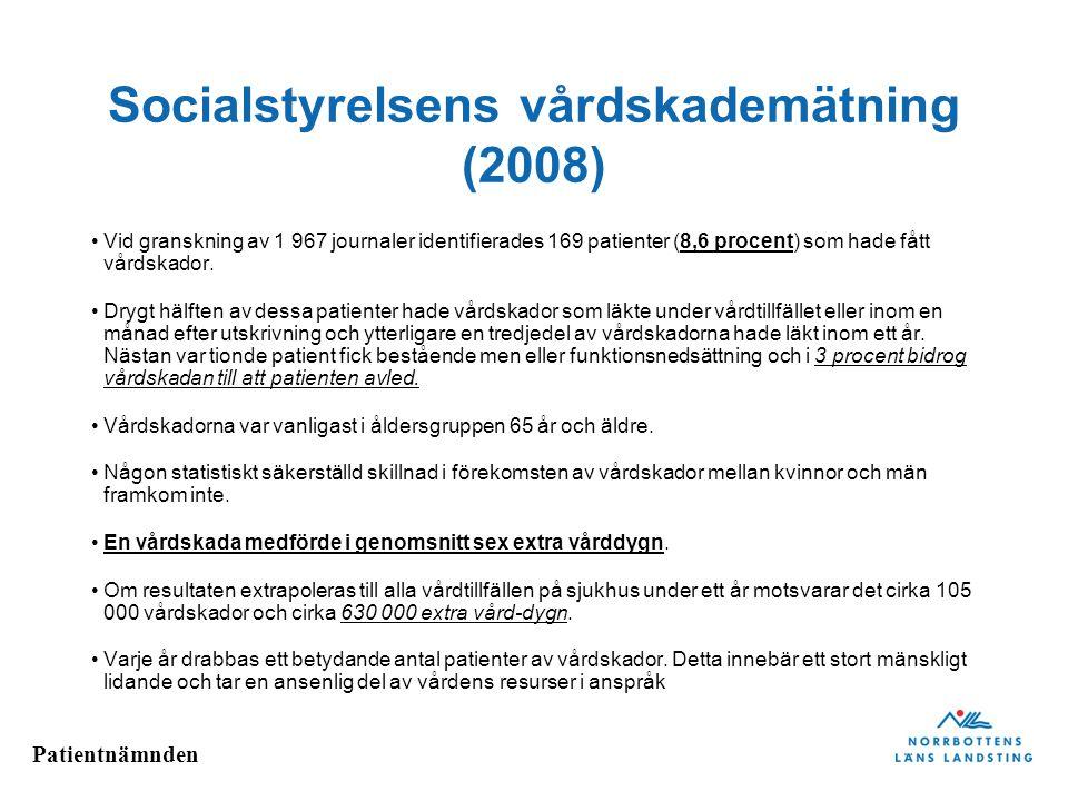 Patientnämnden Stärkt ställning för patienten Från 1 juli 2010 kom förändringar av Hälso- och sjukvårdslagen som berör följande områden: Vårdgaranti Fast vårdkontakt Förnyad medicinsk bedömning Vård hos annan vårdgivare.