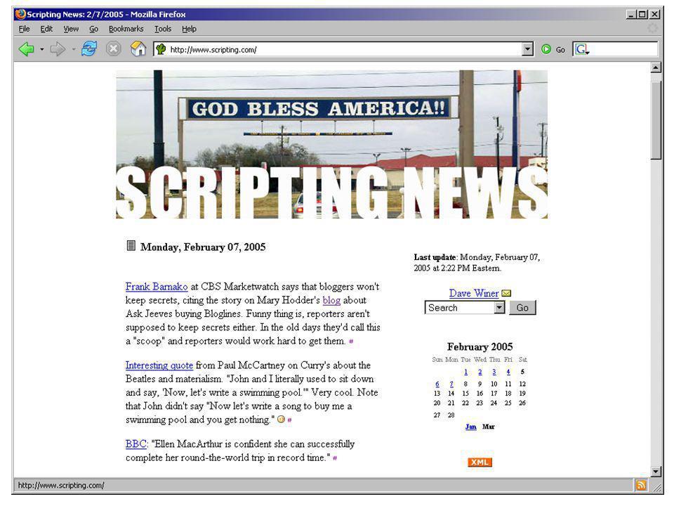 Att känna igen en blogg 1.Senaste inlägget överst 2.