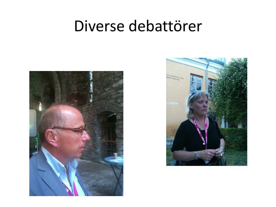 Diverse debattörer