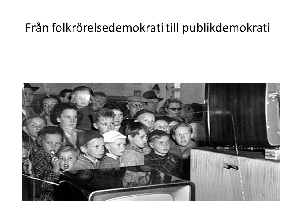 Från folkrörelsedemokrati till publikdemokrati