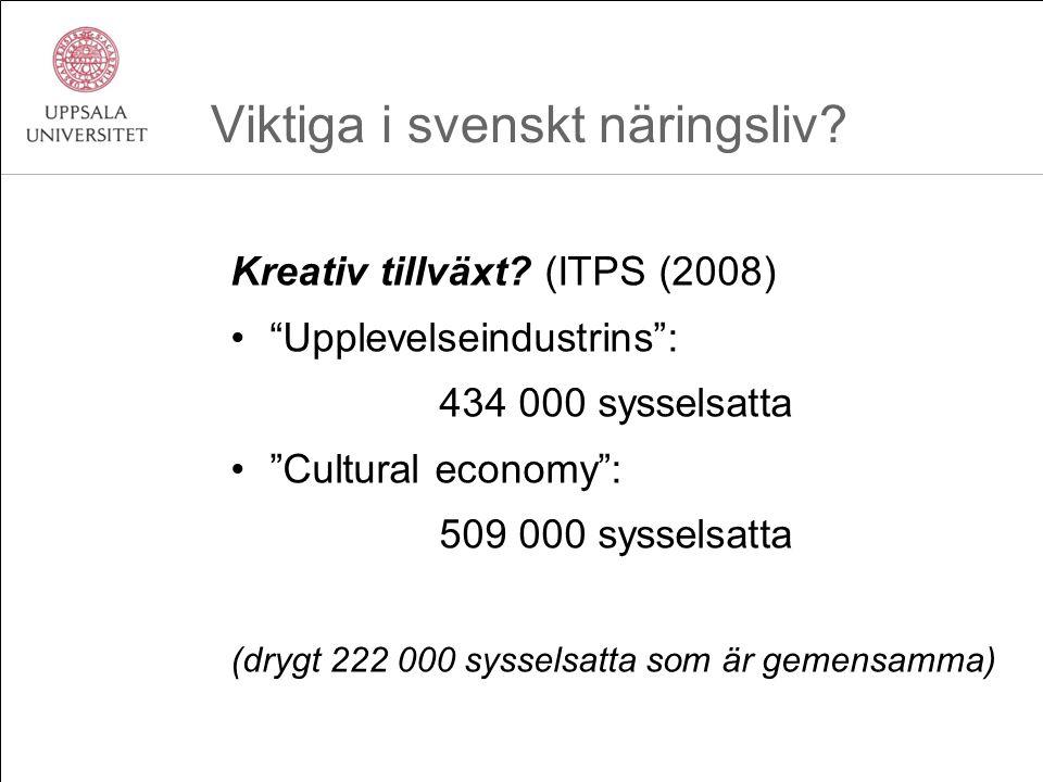 Viktiga i svenskt näringsliv. Kreativ tillväxt.