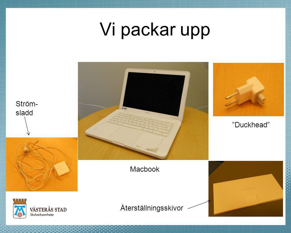 """Vi packar upp Macbook Ström- sladd """"Duckhead"""" Återställningsskivor"""