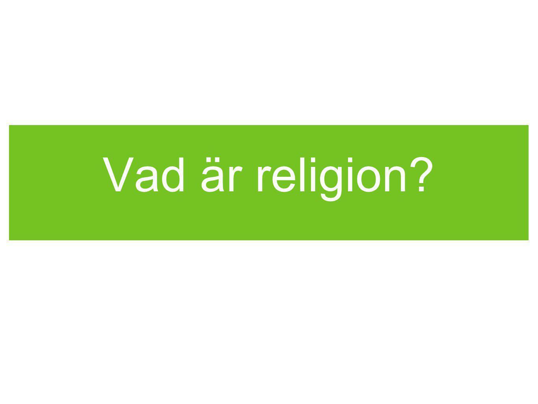Vad är religion?