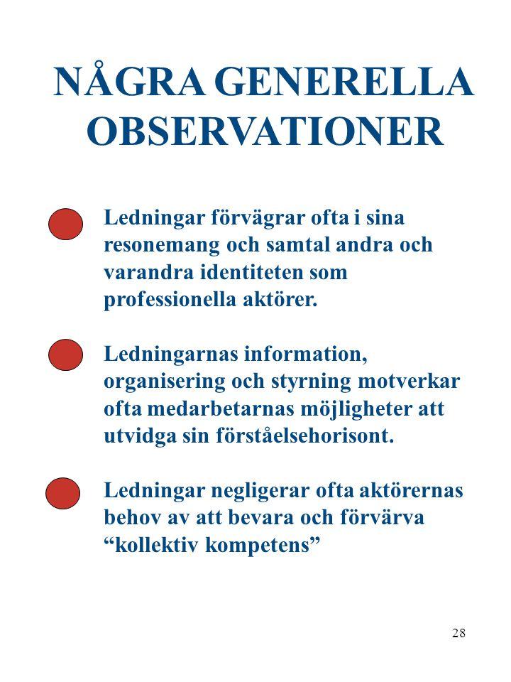 27 Pålitlighet i samarbetet med varandra kräver en vidgad kunskap om arbetskollektivet Kollektiv kompetens Henrik Hansson 1998