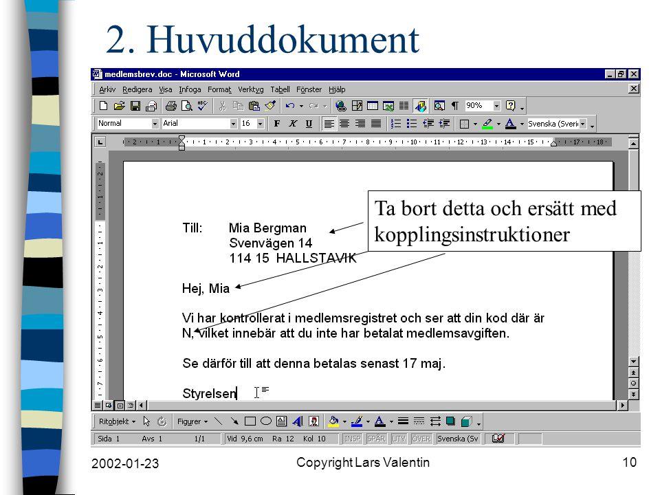 2002-01-23 Copyright Lars Valentin10 2.