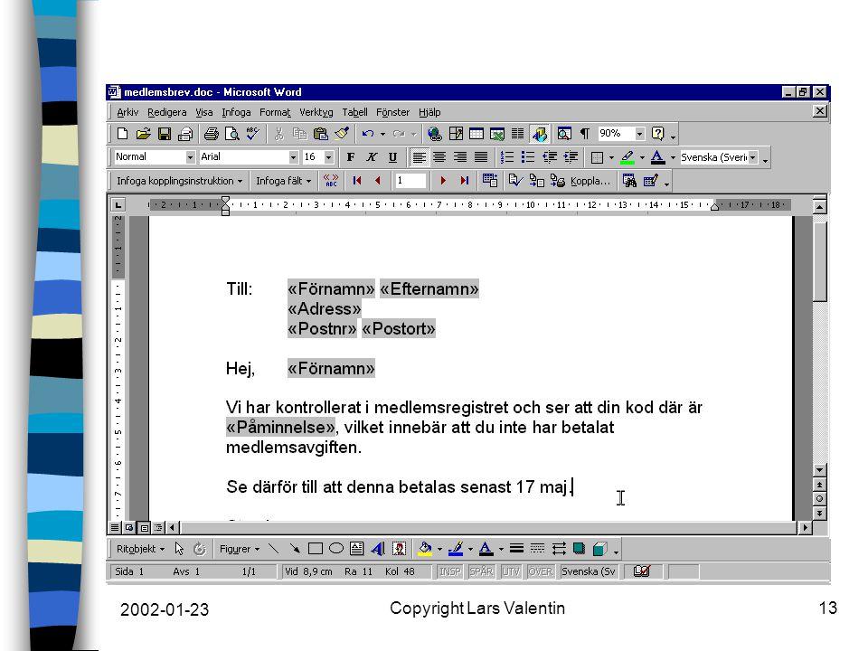 2002-01-23 Copyright Lars Valentin13
