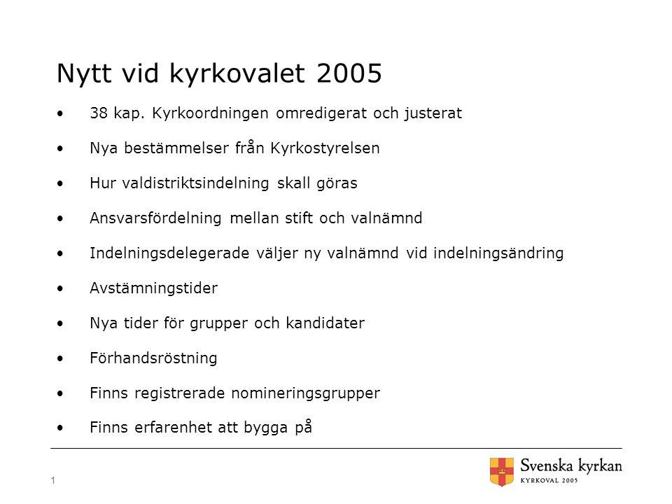 1 Nytt vid kyrkovalet 2005 38 kap.