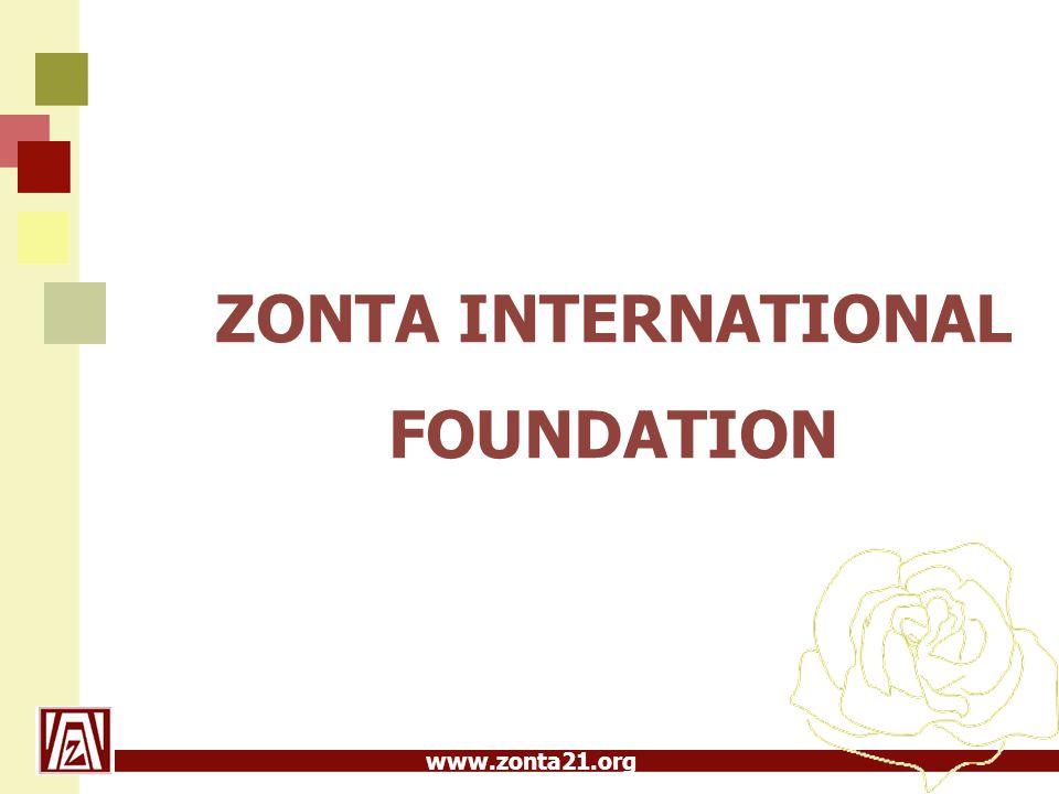 www.zonta21.org ZIF  bildades 1984, inkorporerades i ZI 1985  får sina omkostnader betalda via våra medlemsavgifter till Zonta International  samlar in våra bidrag  distribuerar dessa bidrag till projekt och stipendier enligt våra beslut på Convention  arbetar för att hitta nya vägar att få in bidrag (t ex företagssponsoring)