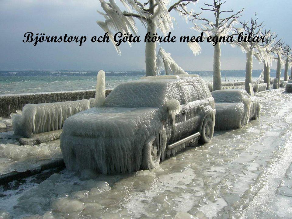 Björnstorp och Göta körde med egna bilar