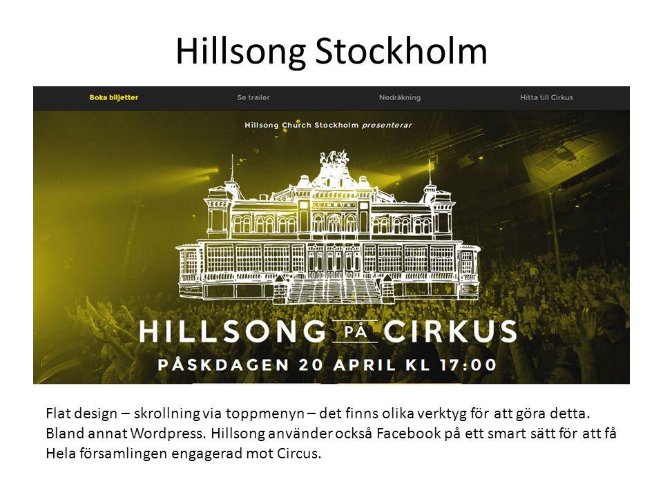 Hillsong Stockholm Flat design – skrollning via toppmenyn – det finns olika verktyg för att göra detta.