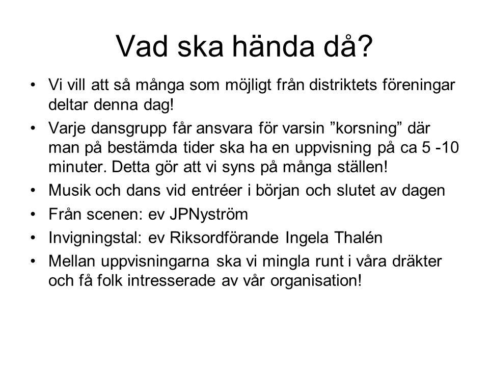 Övrigt Alla deltagare kommer in gratis på Nolia den/de dagar de medverkar Danskväll lördagen den 13 augusti