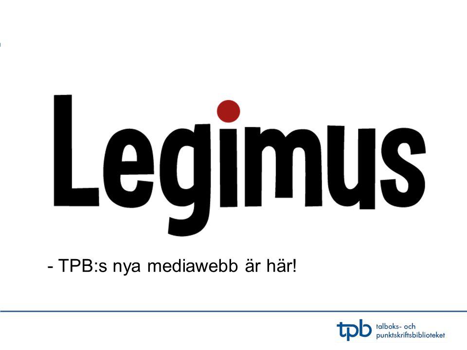 - TPB:s nya mediawebb är här!