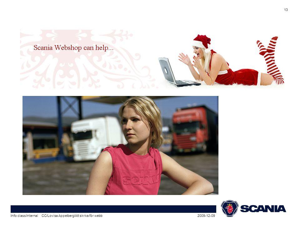 2009-12-09Info class Internal CC/Lovisa Appelberg/Att skriva för webb 13