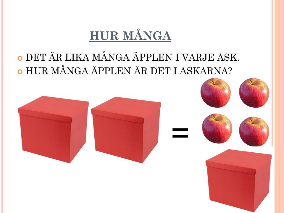 PÅ MATTESPRÅK 2X = X + 4 X = 4