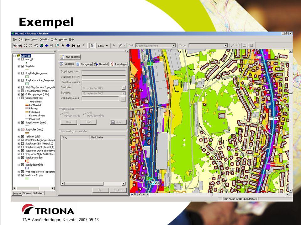 TNE Användardagar, Knivsta, 2007-09-13 Exempel