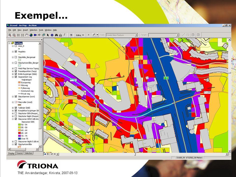 TNE Användardagar, Knivsta, 2007-09-13 Exempel...