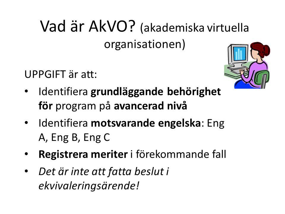 Vad är AkVO.