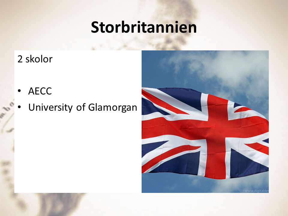 Storbritannien 2 skolor AECC University of Glamorgan